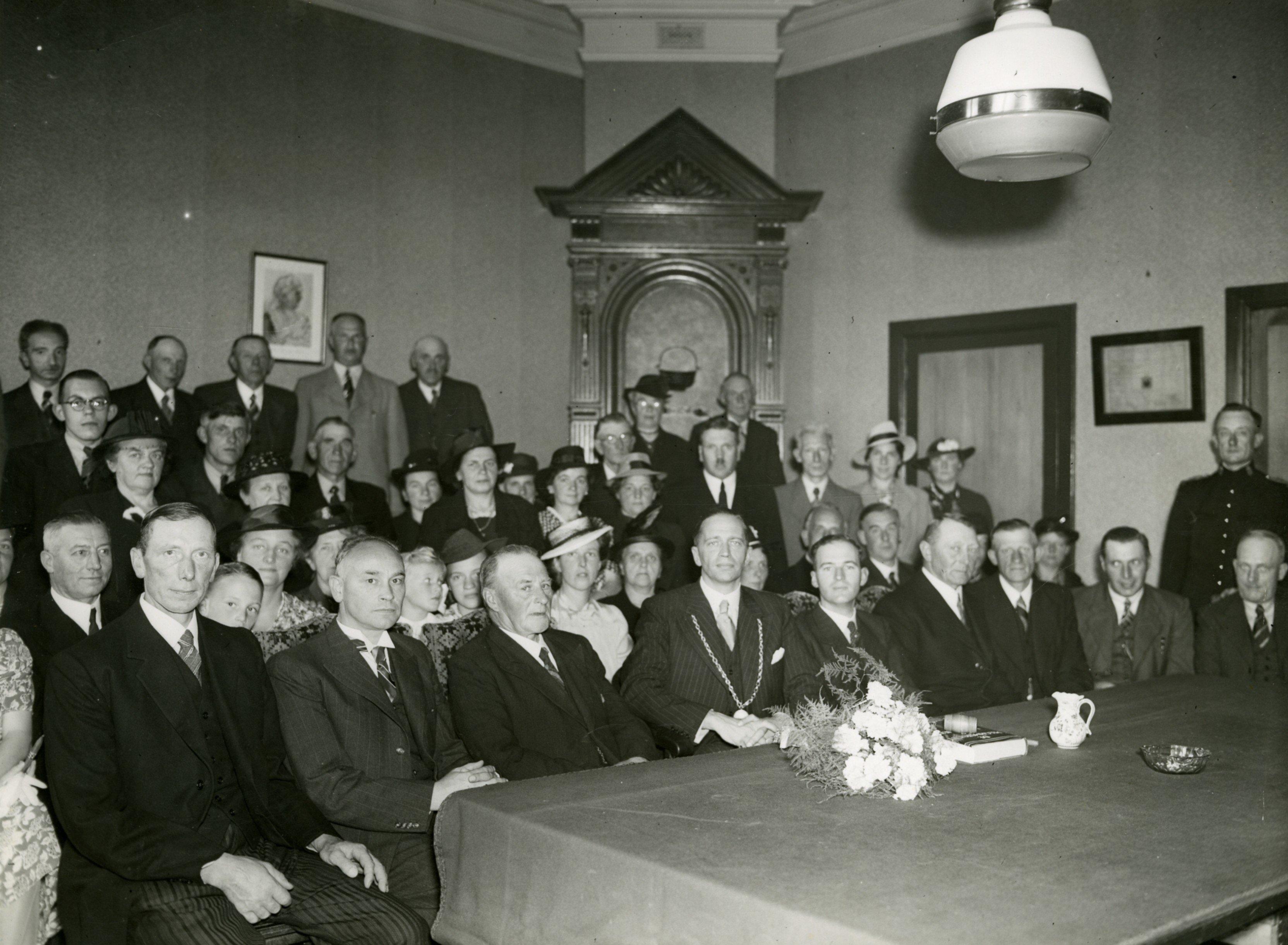 Raadhuis laatste raadsvergadering 31 juli 1941