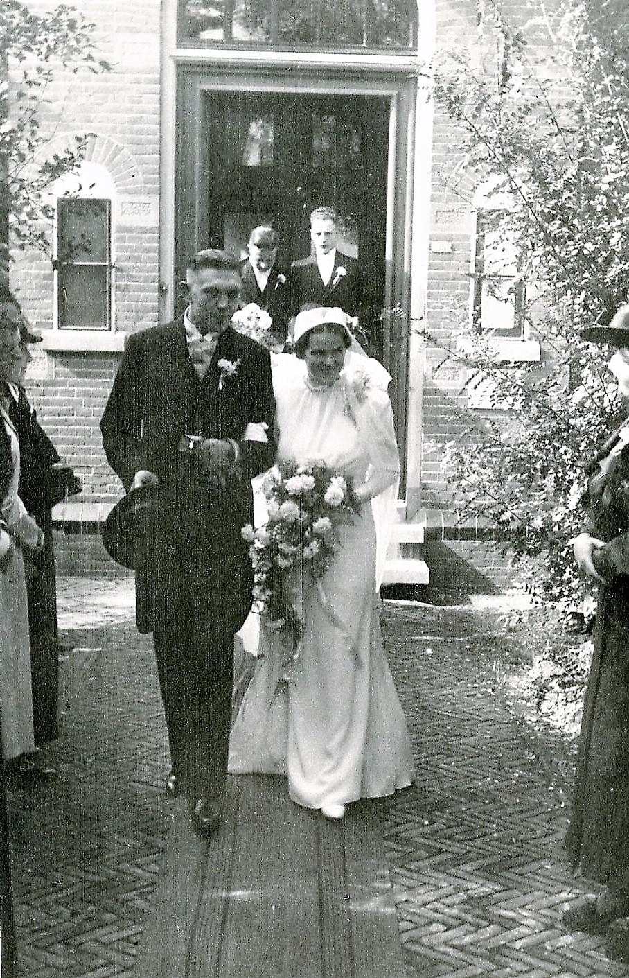 1937 huwlijk stadhuis van Kethel 1938 (1)
